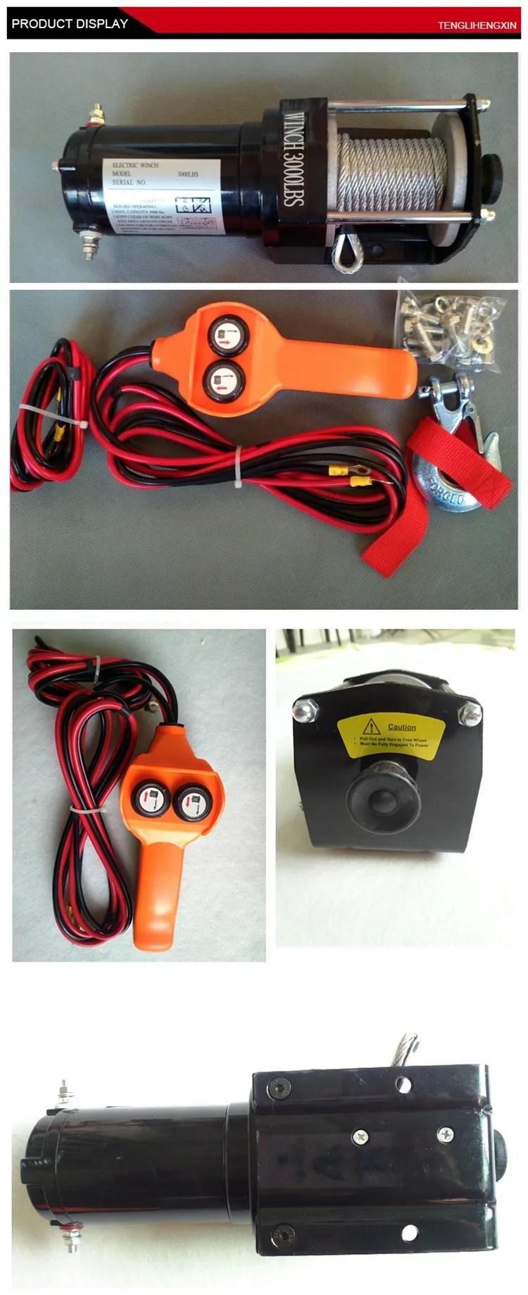 medium resolution of small portable atv electric 12 volt winch