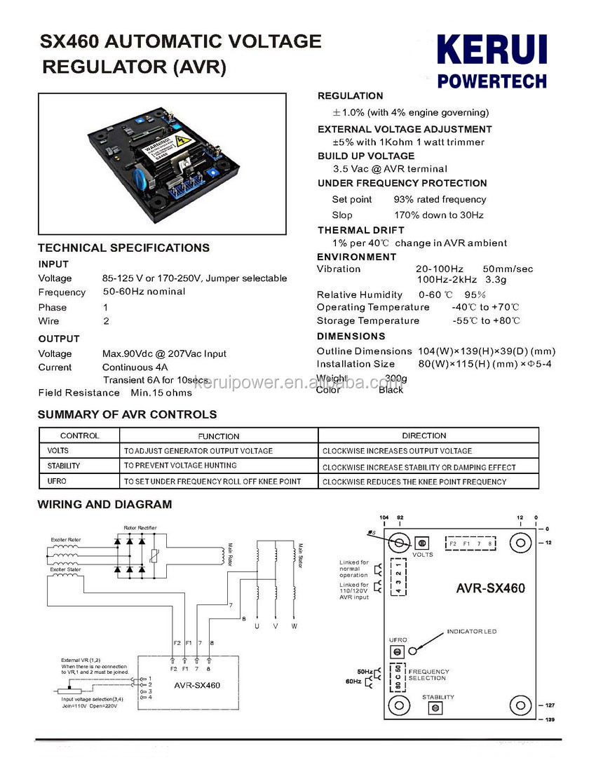 hight resolution of  wrg 6653 sx460 avr wiring diagram