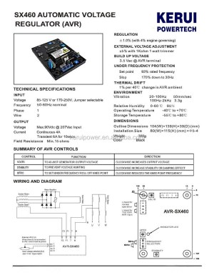 For Newage Stamford Generator Nupart Avr Sx460  Buy Sx460