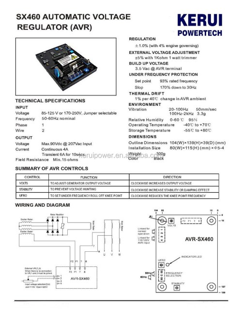 small resolution of  wrg 6653 sx460 avr wiring diagram