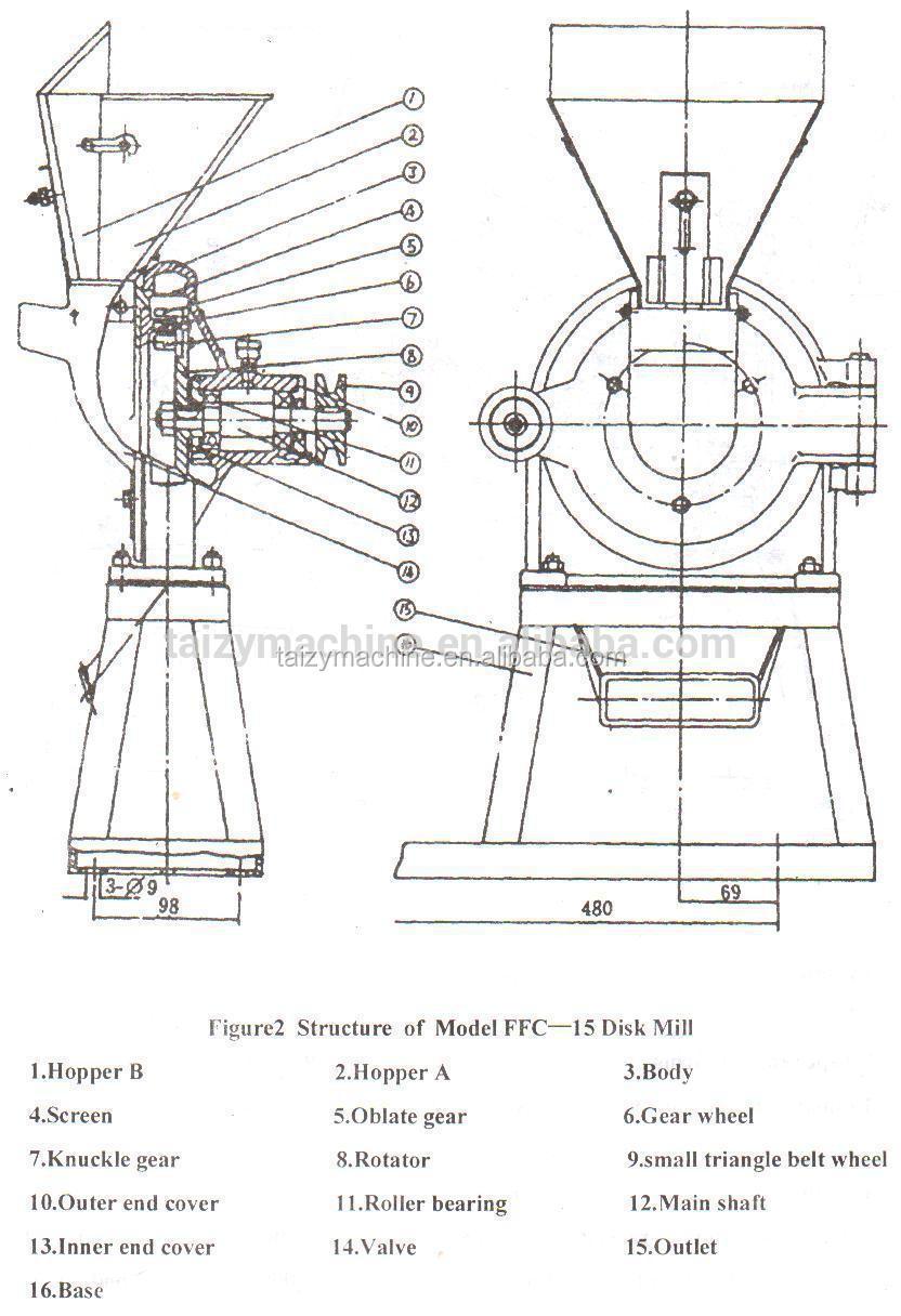 medium resolution of grain crusher machine for whole grain rice hard wheat flour