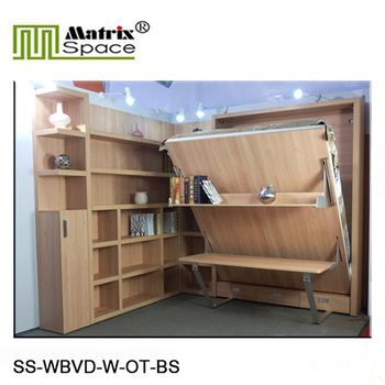Smart Furniture With Bookshelf And Office Table,Smart Wall