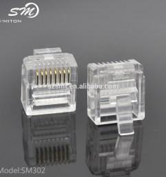good quality networking wire crystal head rj45 8p8c modular plugs [ 1000 x 1000 Pixel ]