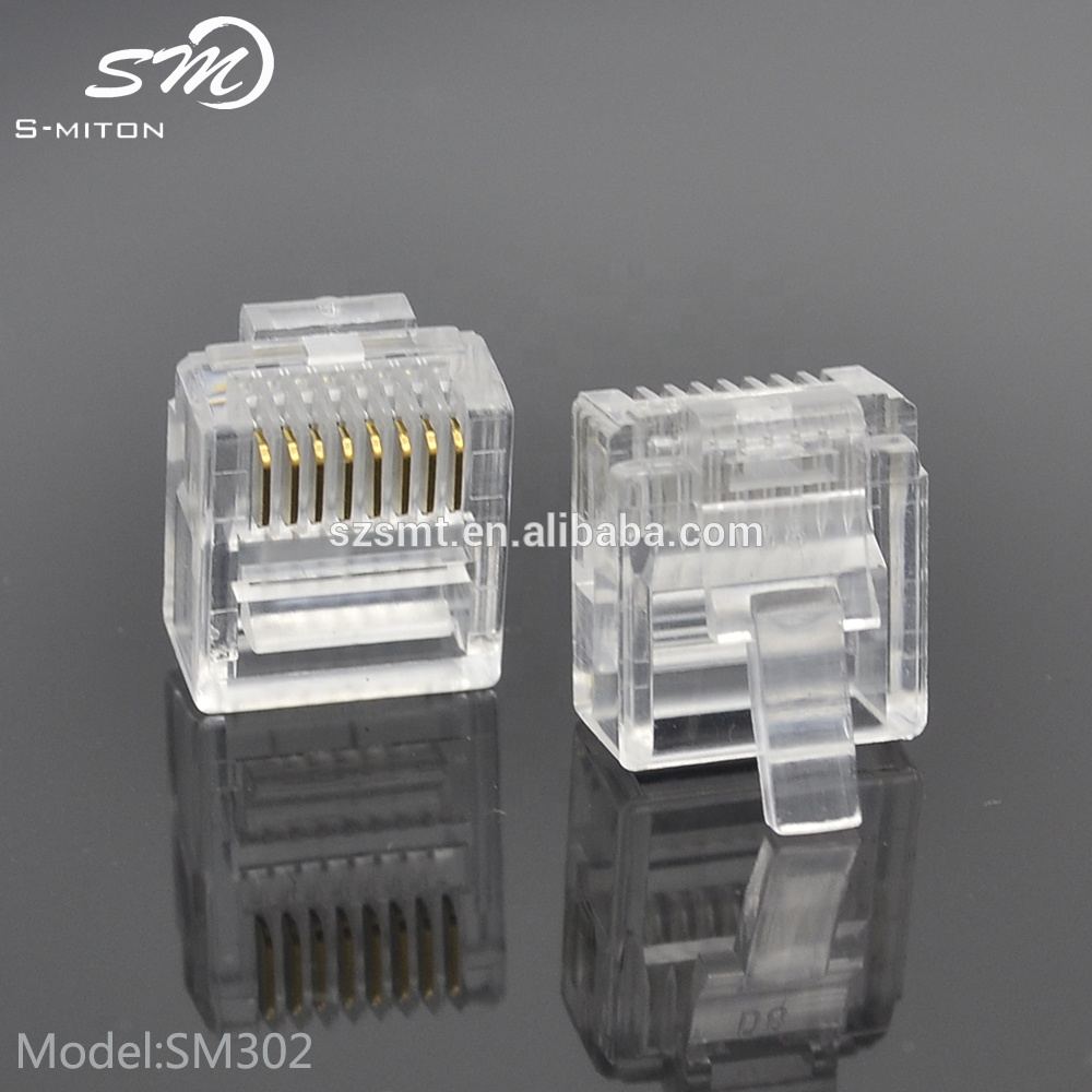 hight resolution of good quality networking wire crystal head rj45 8p8c modular plugs