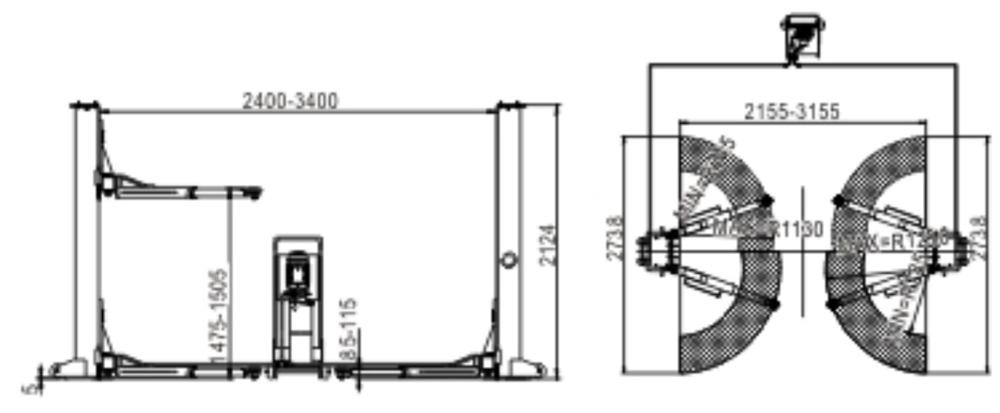 Double Cylinder Hydraulic Lift Type And Ce Certification