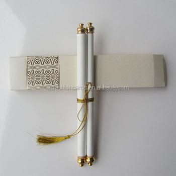 Royal Decree Scroll Invitations Sc006 Newest Wedding Cards