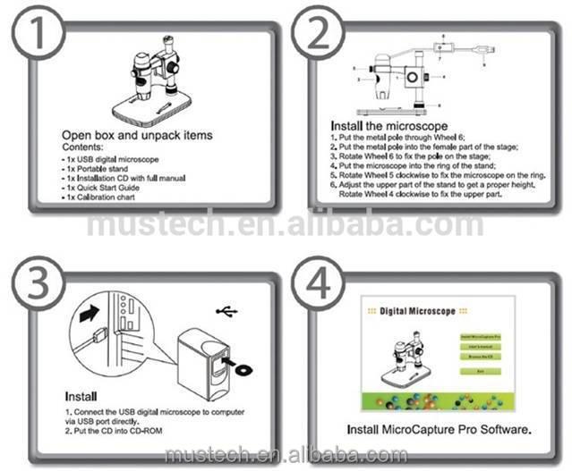 5mp 300x Portable Usb Digital Microscope With Measurement