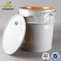 45l Solvent Airtight Metal Bucket With Lock Ring Lid And ...