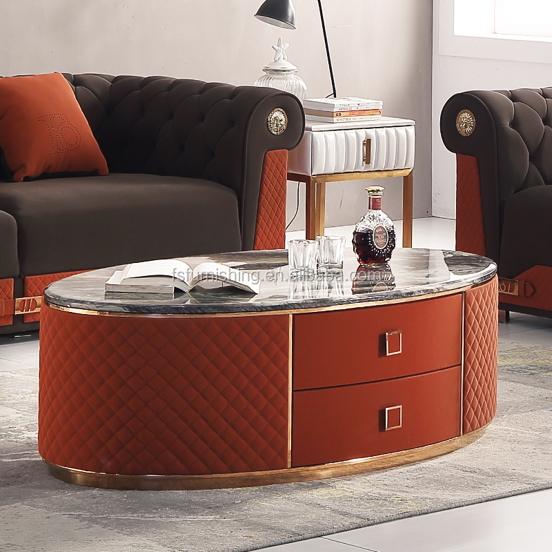 f0441b post modern luxury leather coffee table modern design mdf covered with crocodile leather new center table buy living room furniture design