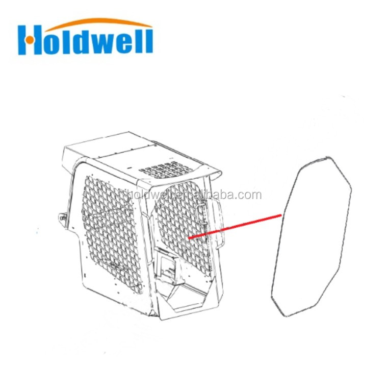 Holdwell Replace Gehl Front Glass 244242 Fit For Skidsteer
