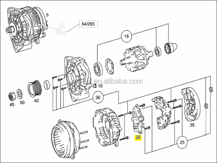 Spare Parts For Mercedes Benz Actros Mp2 Mp3 Alternator
