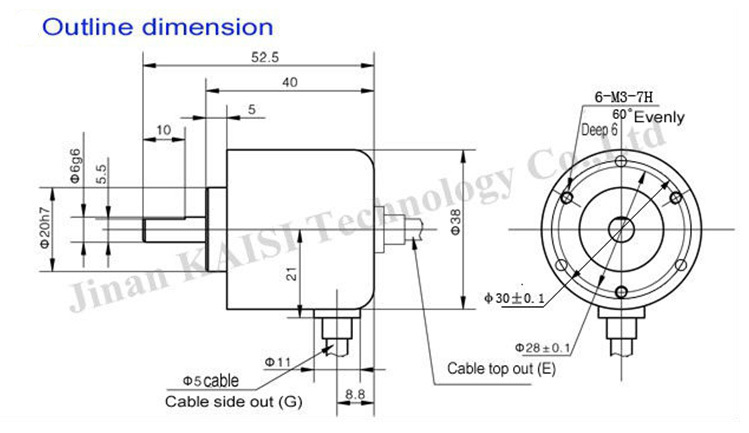 Ks38a-200bm-g5-24c Open Collector Npn Incremental Rotary