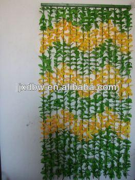 Hanging Plastic Decorative Door Beads Flower Curtains