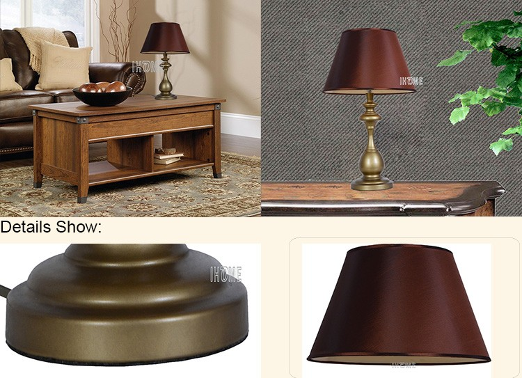 Have lampshade Traditional Fabric home goods metal table
