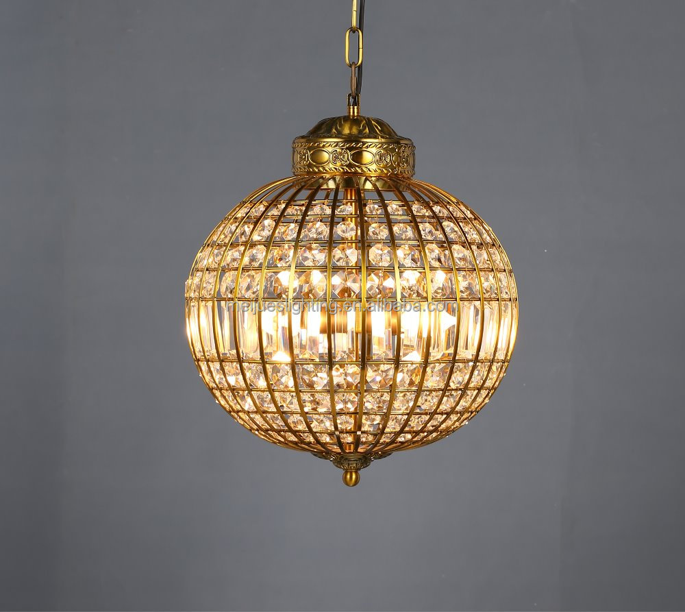 Modern French Modern Crystal Ball Chandelier