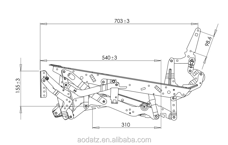 Ad369 Manual Recliner Sofa Mechanism For Home Theater