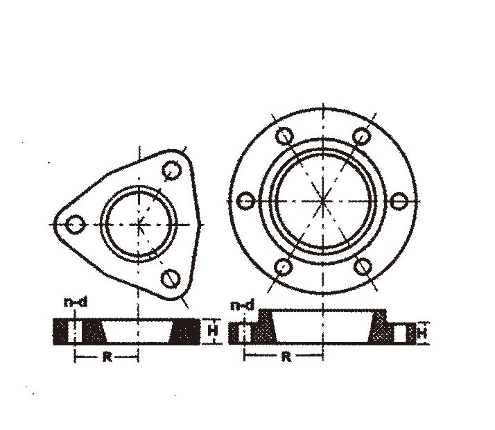 Fabrication Mechanical Parts Standard Dimensions Flange