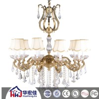 220 Volt Crystal Ball Glass Bobeche Chandelier Imported ...