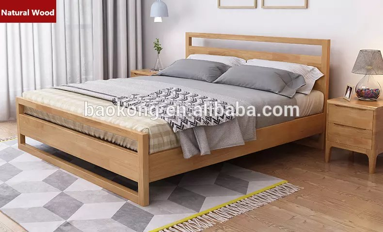 new design thailand rubber wood king size double bed solid wood bed buy double bed designs in wood solid wood bed crown bali style wood bed product