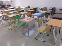 Attached Student Desk Chair / Classroom Furniture For Sale