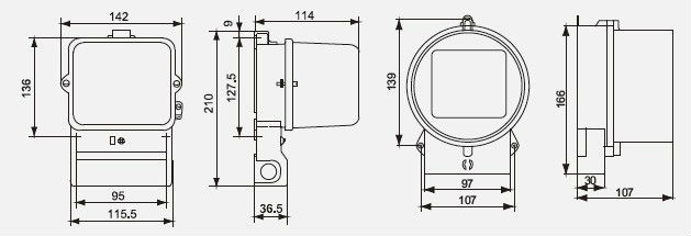 Dd283/dd284 Single Phase Electromechanical Front Board