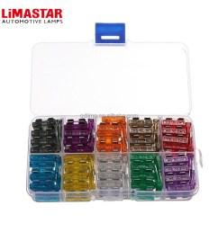 limastar car fuse box ats atn atm att atc 5a 10a 15a 20a 25 30a amp set kit mixed auto truck mini blade fuse [ 1000 x 1000 Pixel ]