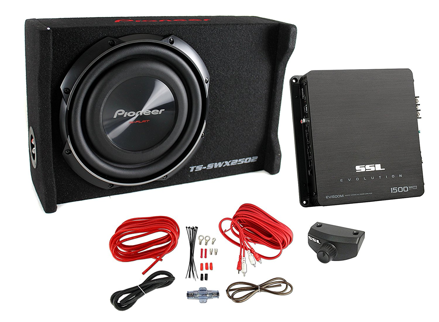 hight resolution of get quotations pioneer 10 inch 1200 watt sub shallow mount subwoofer mono amp wiring kit