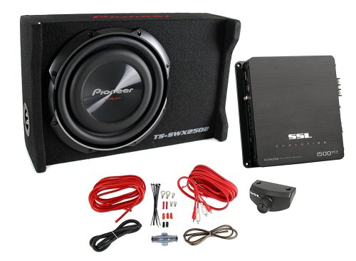 small resolution of get quotations pioneer 10 inch 1200 watt sub shallow mount subwoofer mono amp wiring kit