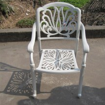 Heavy-duty Dining Table And Chairs White Bronze Anodized
