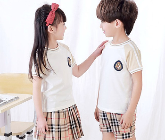China Factory School Uniform Sample Boys Wearing Girls Primary School Uniforms Picture Summer School Tracksuits Kids Sportswear Buy School Uniforms And