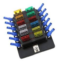 get quotations fidgetfidget fuse box holder 6v 12 24v car 12 way circuit standard blade block [ 1024 x 1024 Pixel ]