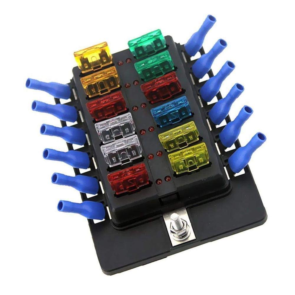 medium resolution of get quotations fidgetfidget fuse box holder 6v 12 24v car 12 way circuit standard blade block