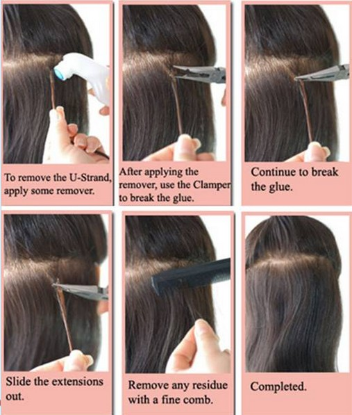 Step 2 Energize Remove The Glue Break Use Flat Pliter 3 Separate Pre Tipped Hair From Your 4 B Or Shoo To Clean