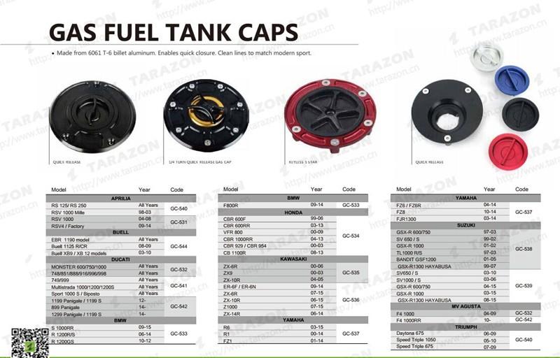 Cnc Billet Keyless Motorcycle Petrol Cap Fuel Gas Tank Cap