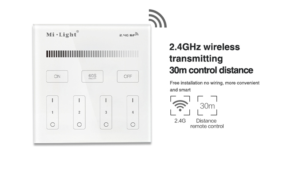 Milight Led Touch Panel Controller 2.4g Wall-mounted