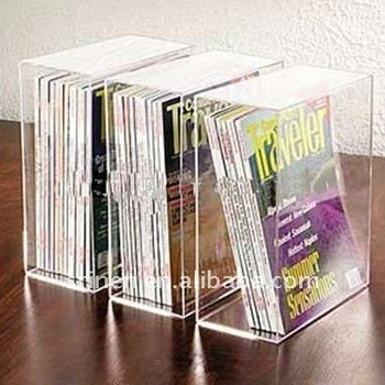 acrylic books magazines display