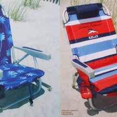Tommy Bahama Cooler Chair Club Chairs On Casters Cheap Backpack Beach Find Get Quotations 2 2015 With Storage Pouch And Towel Bar 1 Blue