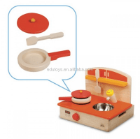 Kitchenette Baby Play Mini Stove Kids Wooden Cooking Toys ...