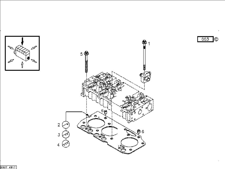 Deutz Diesel Engine Spare Parts Bf4m2012 Cylinder Head