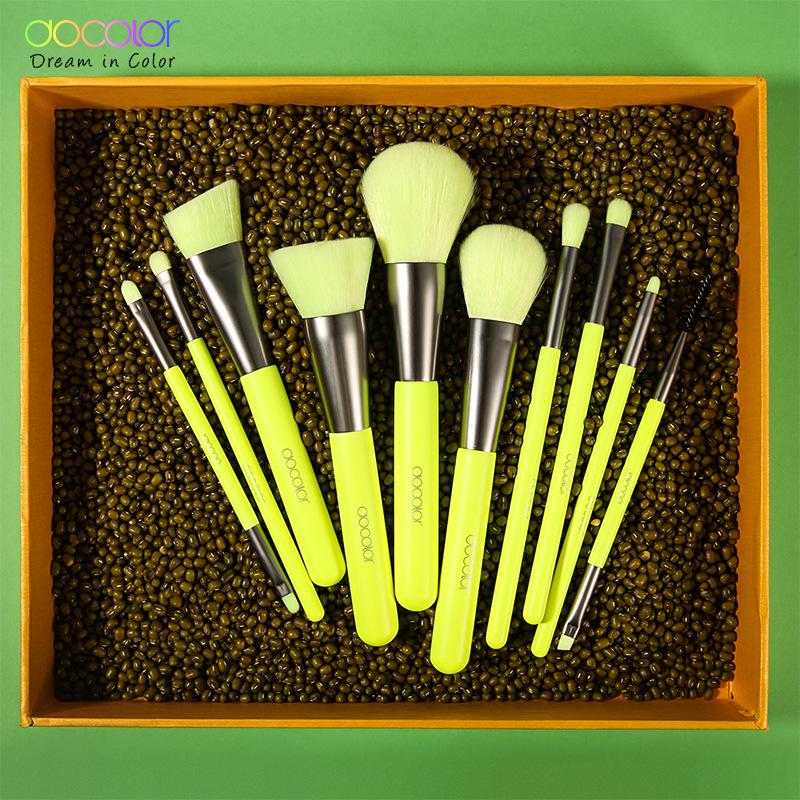 Docolor Wholesale Box Package 10 Pcs Red/purple/green Color Makeup Brush Set Custom Docolor Makeup Brushes - Buy Docolor Makeup Brushes.Red/purple ...