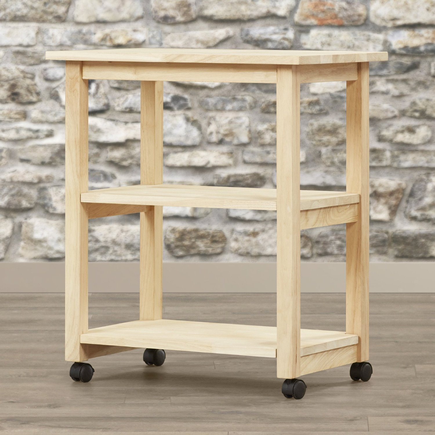 buy traditional wood microwave cart
