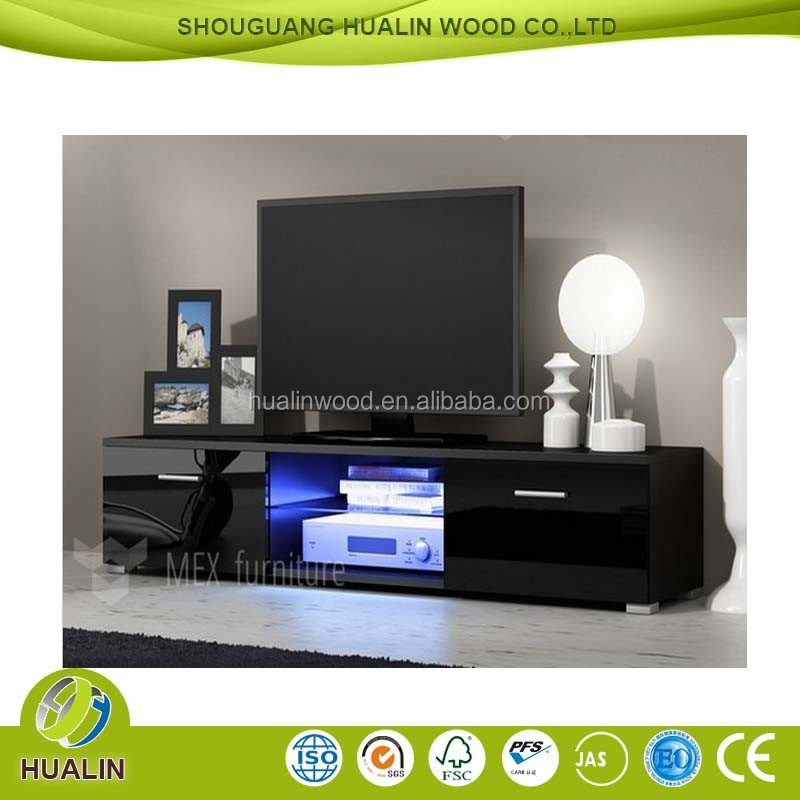 black high gloss living room furniture clearance sale new style tv stand design