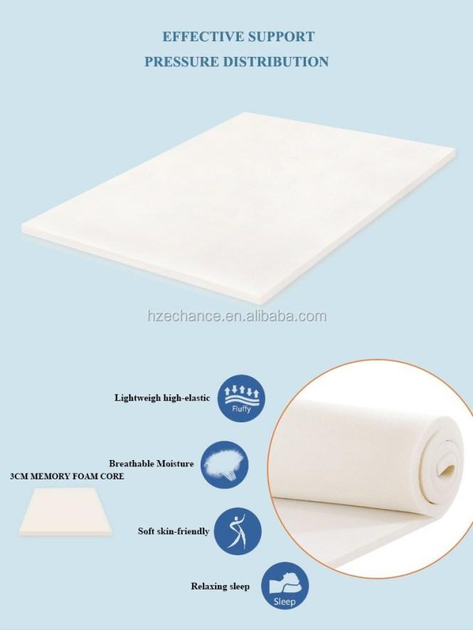 Memory Foam Mattress Travel Folding Bed Roll Up