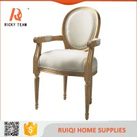 Baroque Restaurant Chair Antique Comfortable Fabric Wooden ...