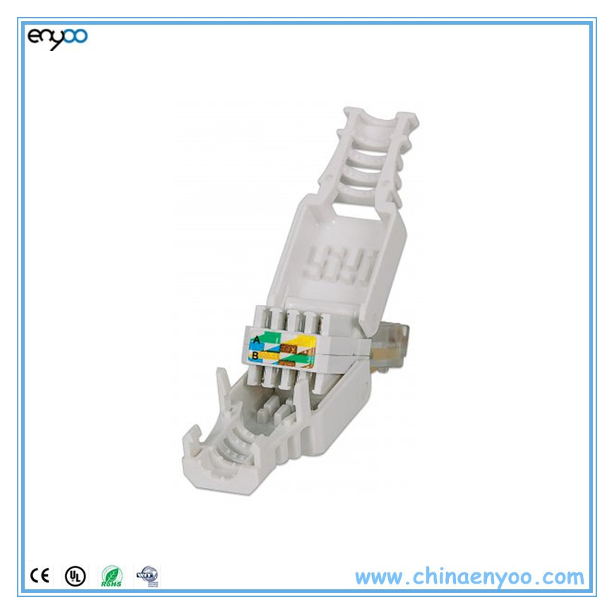 cat6 connector wiring diagram meyer truck lite tool-less rj45 utp gigabit ethernet snap-in - buy toolless ...