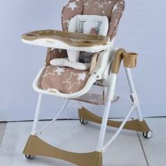 Adult Baby High Chair Folding Green Multi Function Feeding Highchair 3 In 1