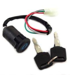 xljoy ignition key switch set 4 wires for chinese made 50cc 70cc 90cc 110cc 125cc atv [ 1005 x 1005 Pixel ]