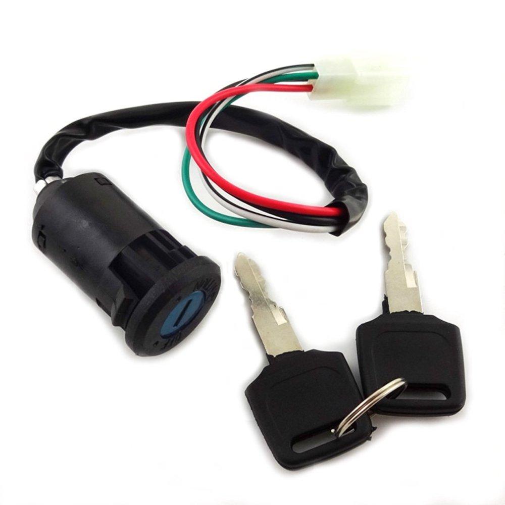 medium resolution of xljoy ignition key switch set 4 wires for chinese made 50cc 70cc 90cc 110cc 125cc atv