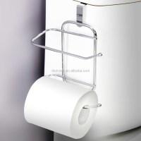 Toilet Paper Tissue Hanging Metal 2 Roll Reserve Holder ...