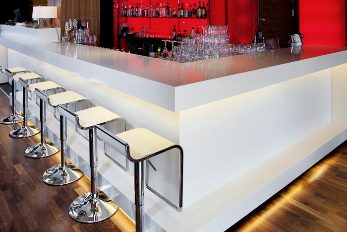 Commecial Muebles Modernos Recta Barra De Bar Con Led
